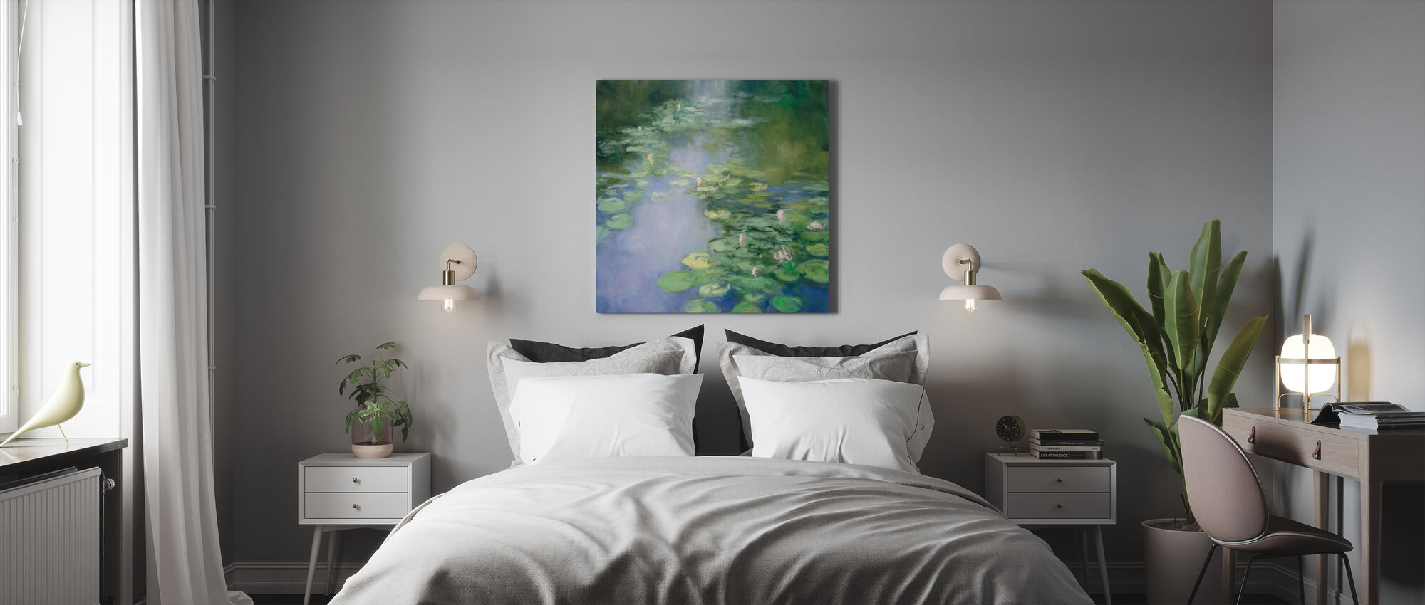 Blue Lily II - Canvas print - Bedroom