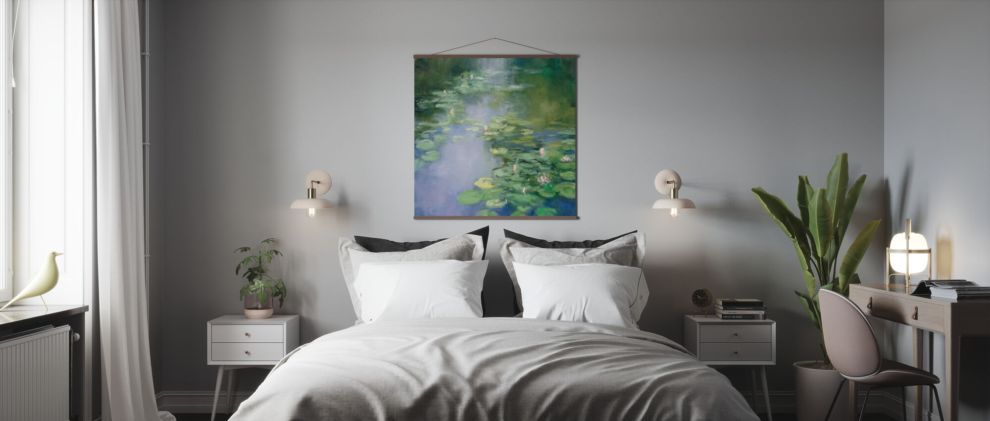 Sininen Lilja II - Juliste - Makuuhuone