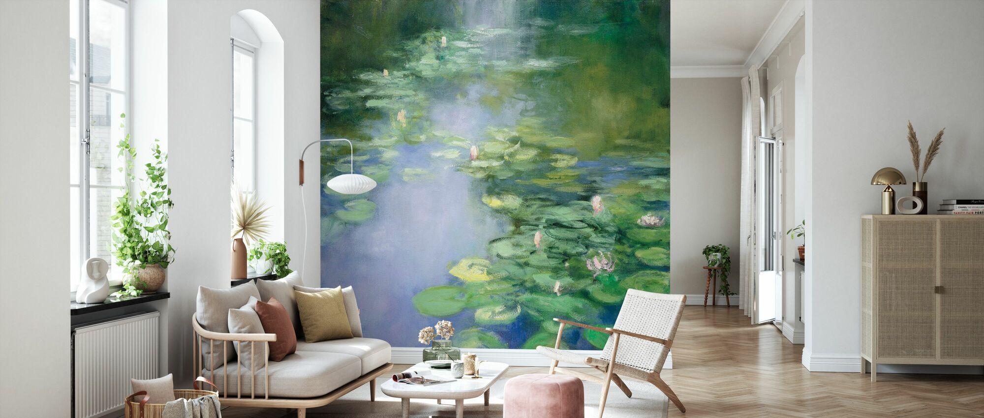Blaue Lilie II - Tapete - Wohnzimmer