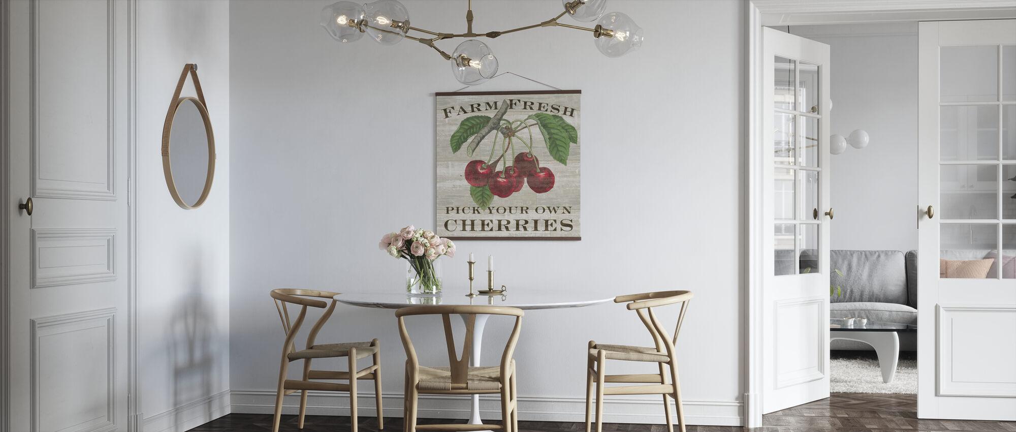 Farm Fresh Cherries - Poster - Kitchen