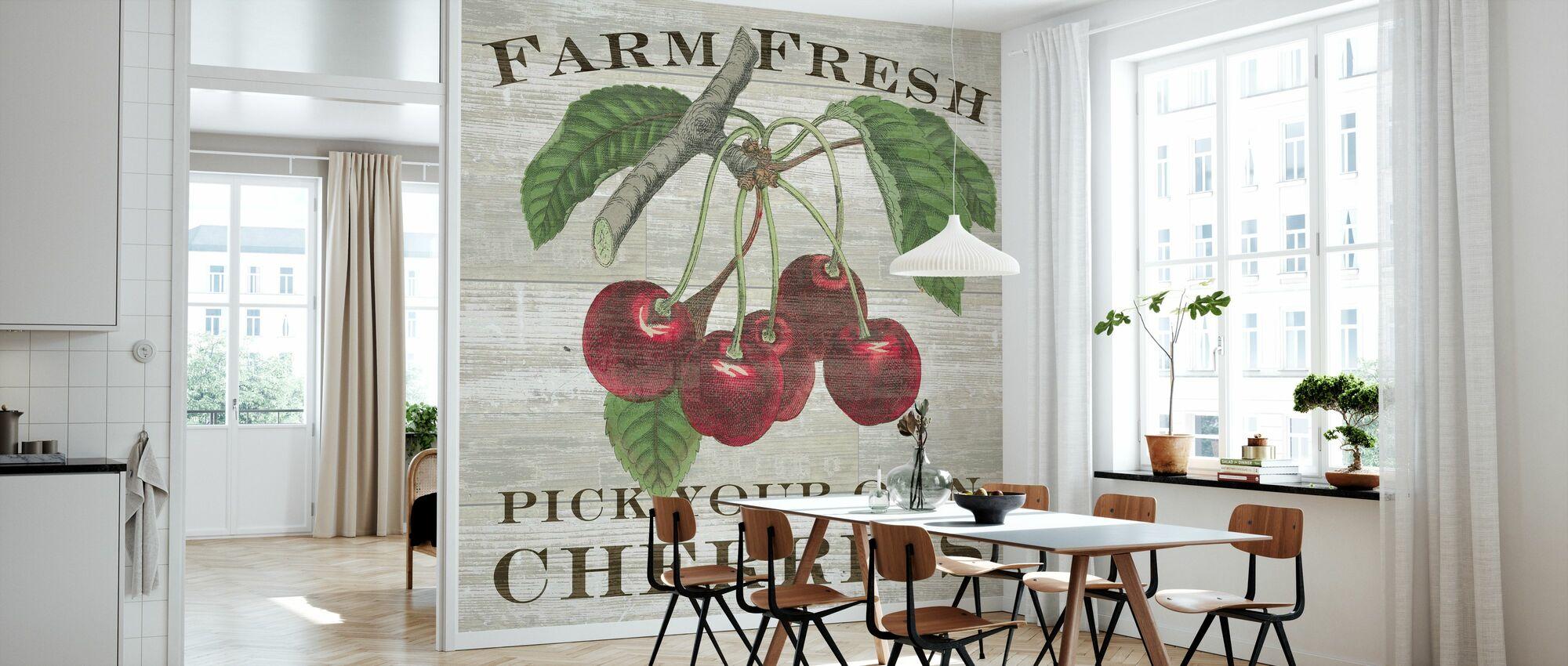 Bauernhof Frische Kirschen - Tapete - Küchen