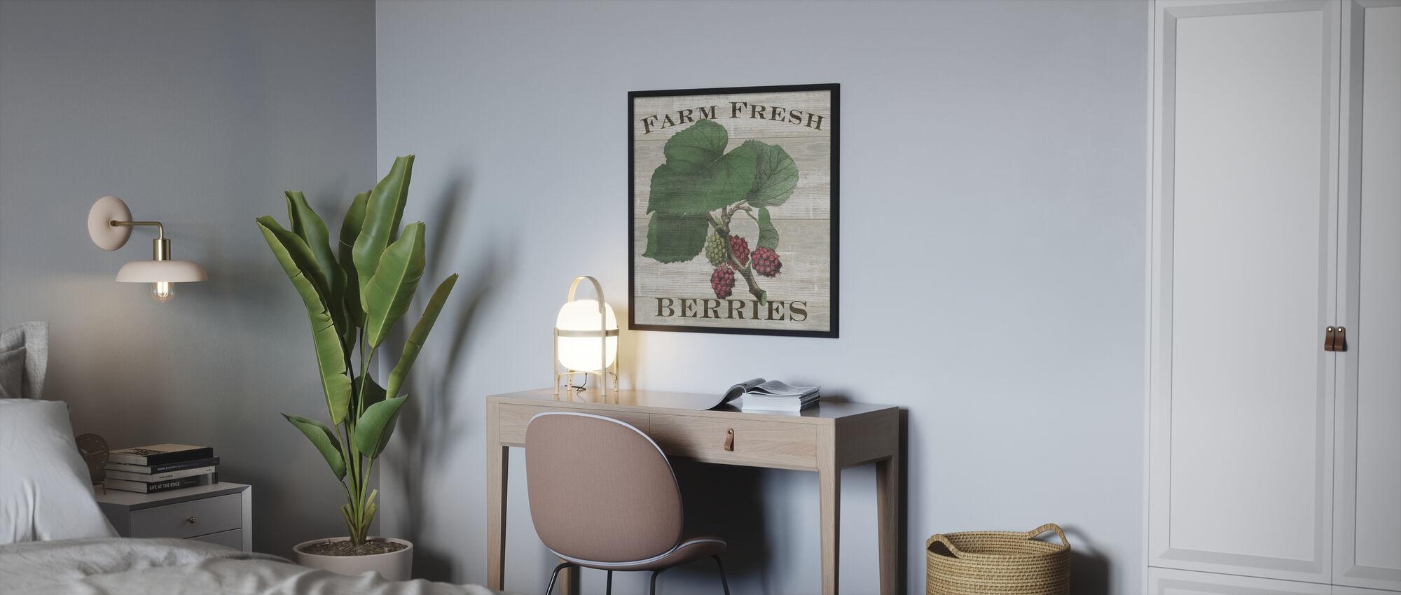 Farm Fresh Raspberries - Poster - Bedroom