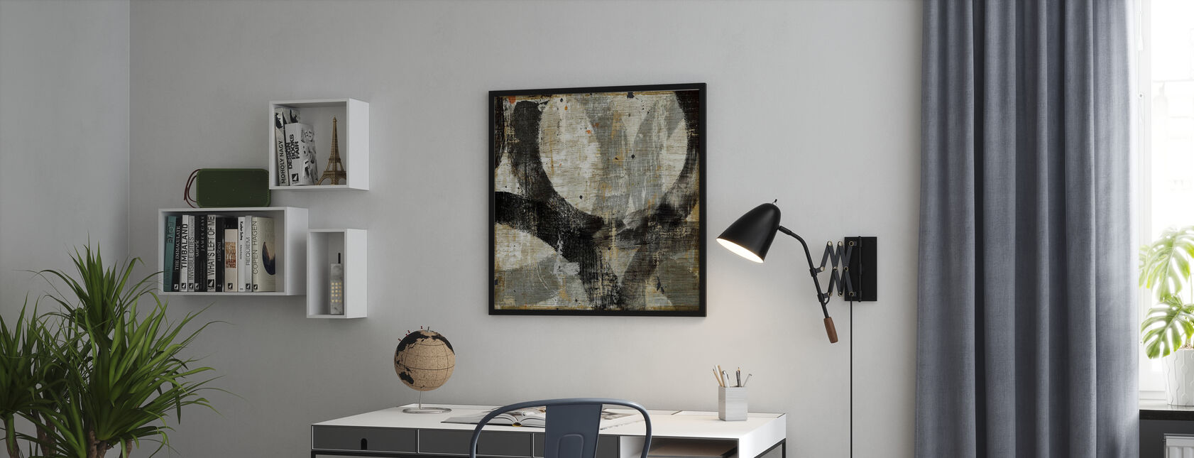 Geometric Abstract II - Framed print - Office