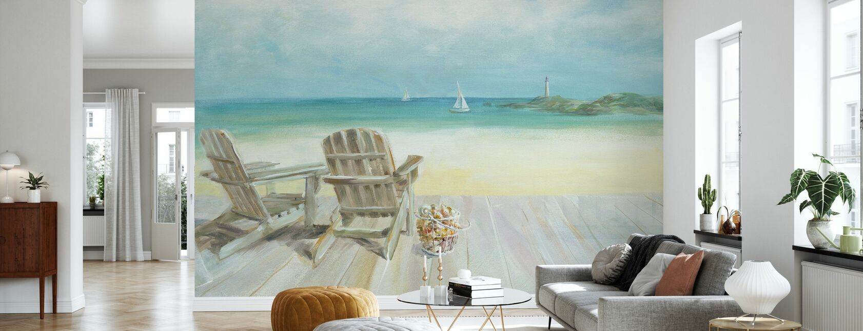 Ocean View - Wallpaper - Living Room
