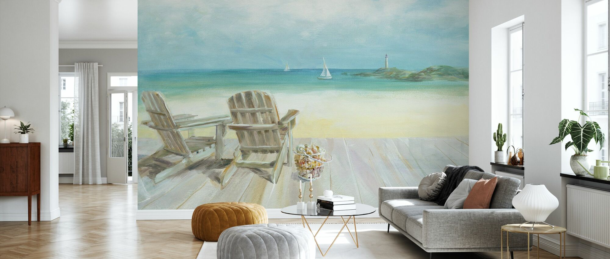 Ocean View - Wallpaper - Living Room