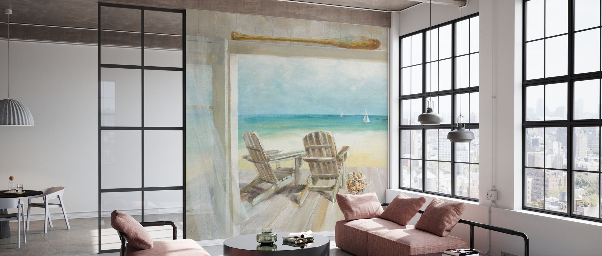 Seaside Morning - Wallpaper - Office