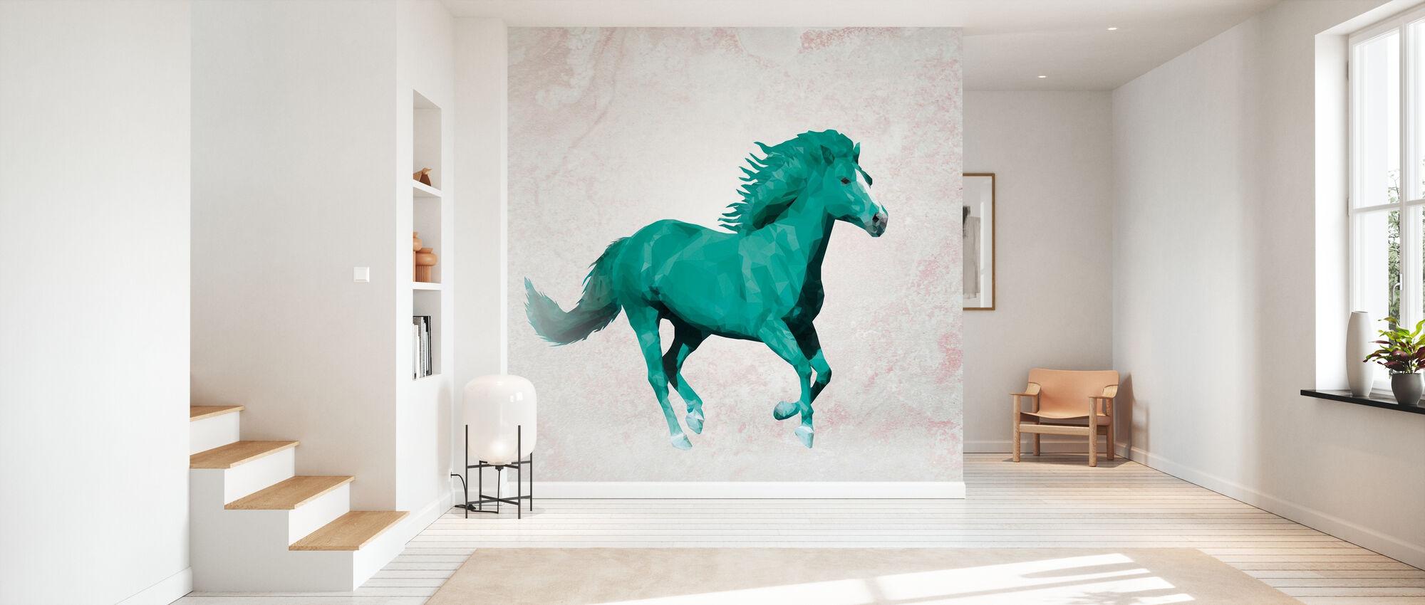 Polygon Horsy Crazy - Wallpaper - Hallway