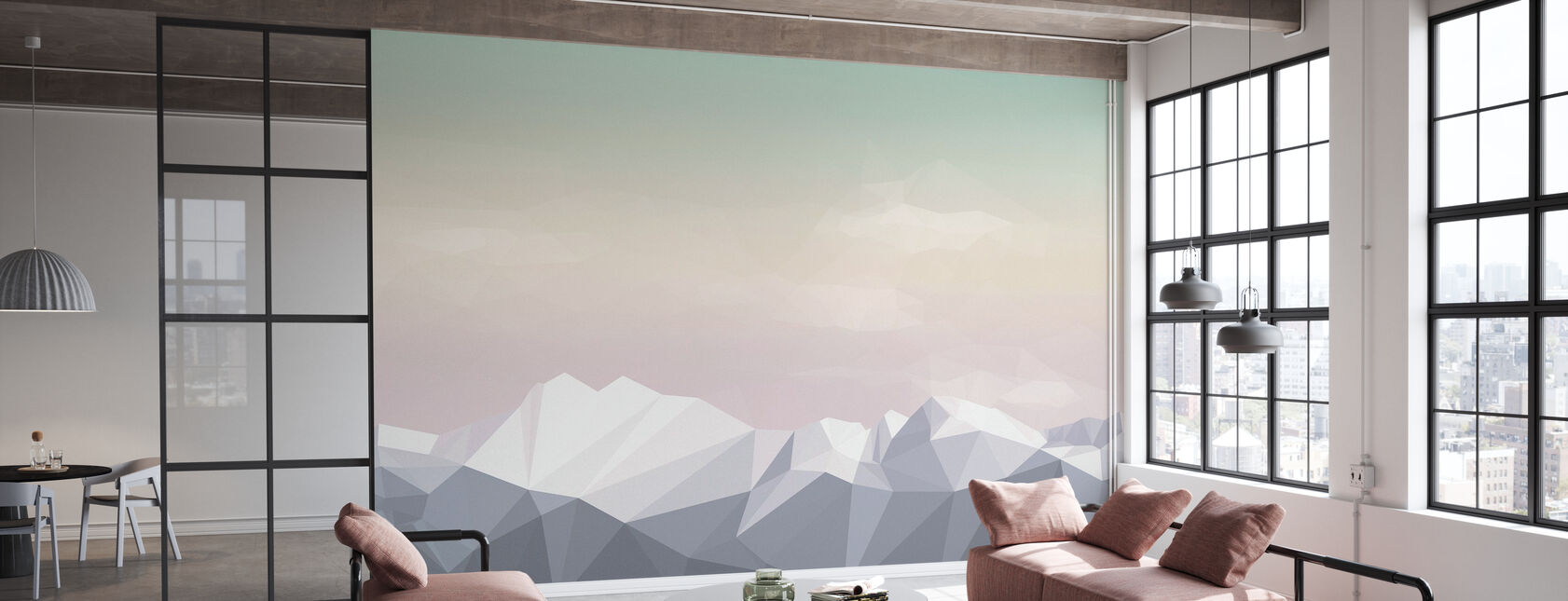 Mostly Mountains Icecream - Wallpaper - Office