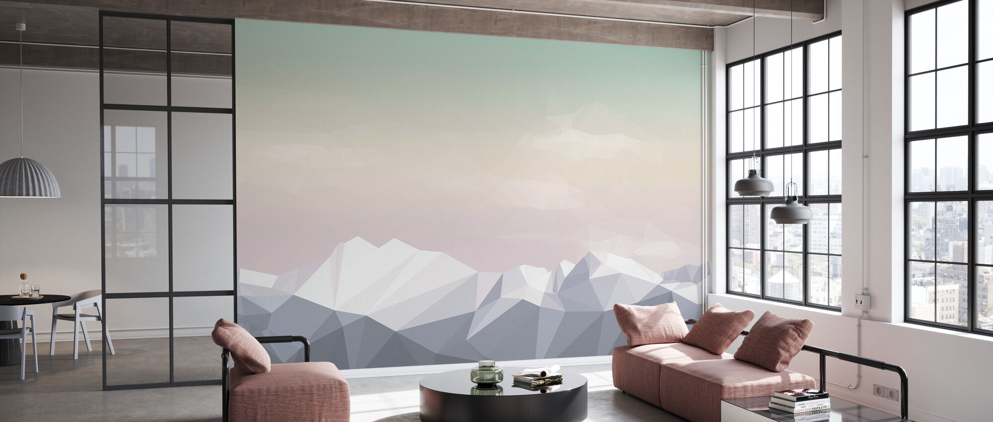 Surtout Montagnes Icecream - Papier peint - Bureau