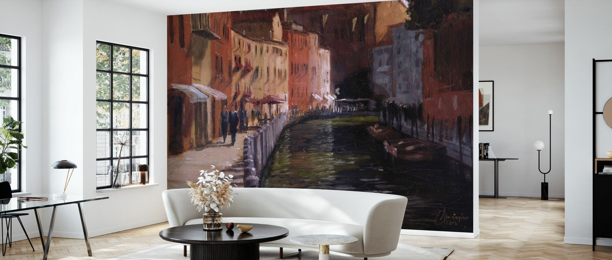 Along the Canal - Wallpaper - Living Room