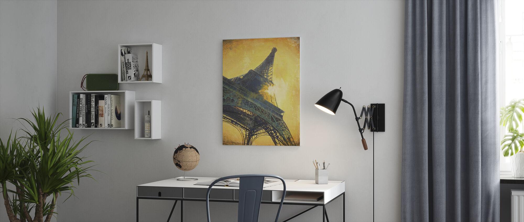 Paris på Sunset - Lerretsbilde - Kontor