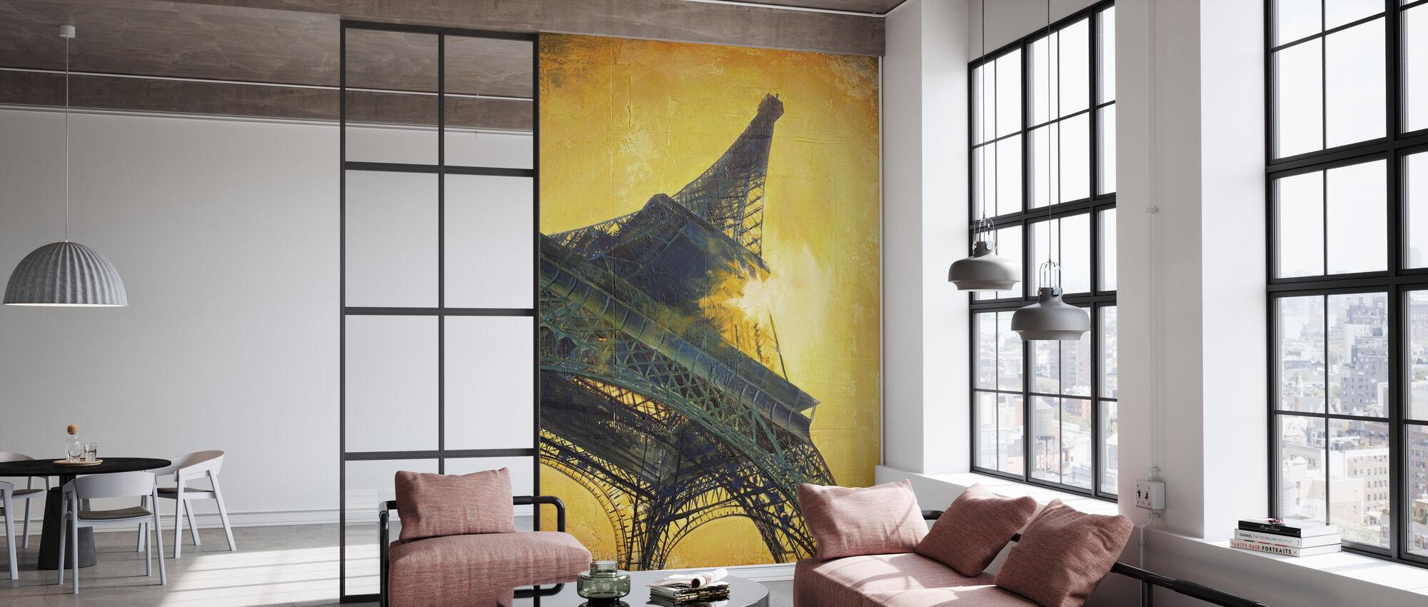 Paris au coucher du soleil - Papier peint - Bureau