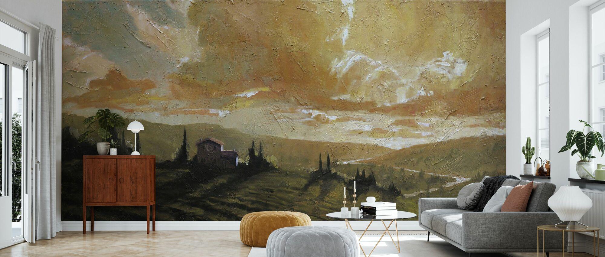 Toscana glød - Tapet - Stue