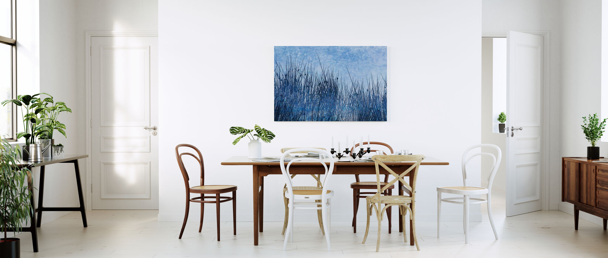 Blue Grass Silhouette - Canvas print - Kitchen