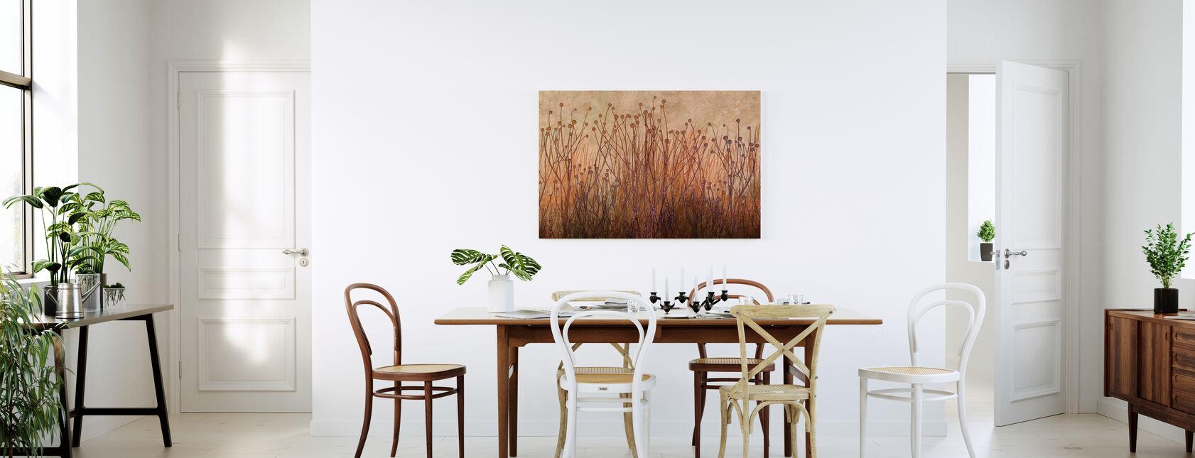 Copper Grass Silhouette - Canvas print - Kitchen