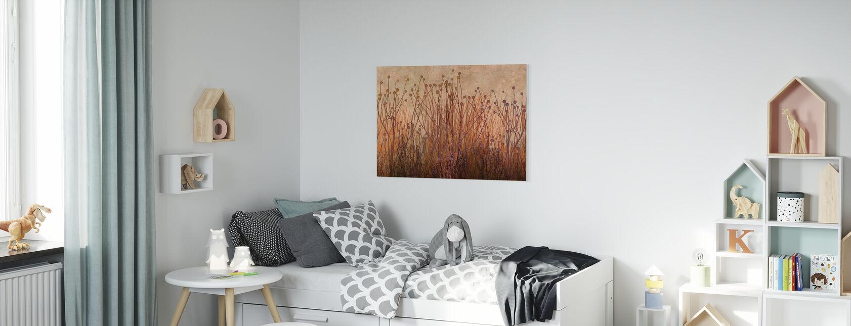Copper Grass Silhouette - Canvas print - Kids Room