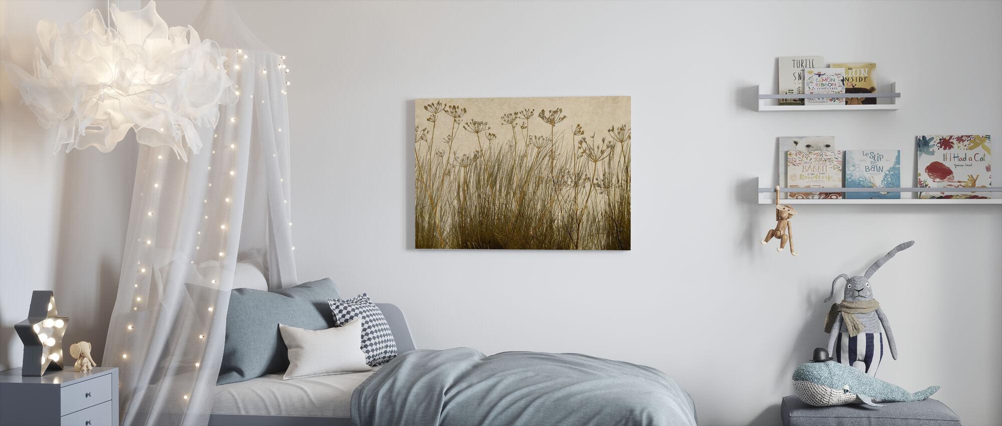 Golden Grass Silhouette - Canvas print - Kids Room