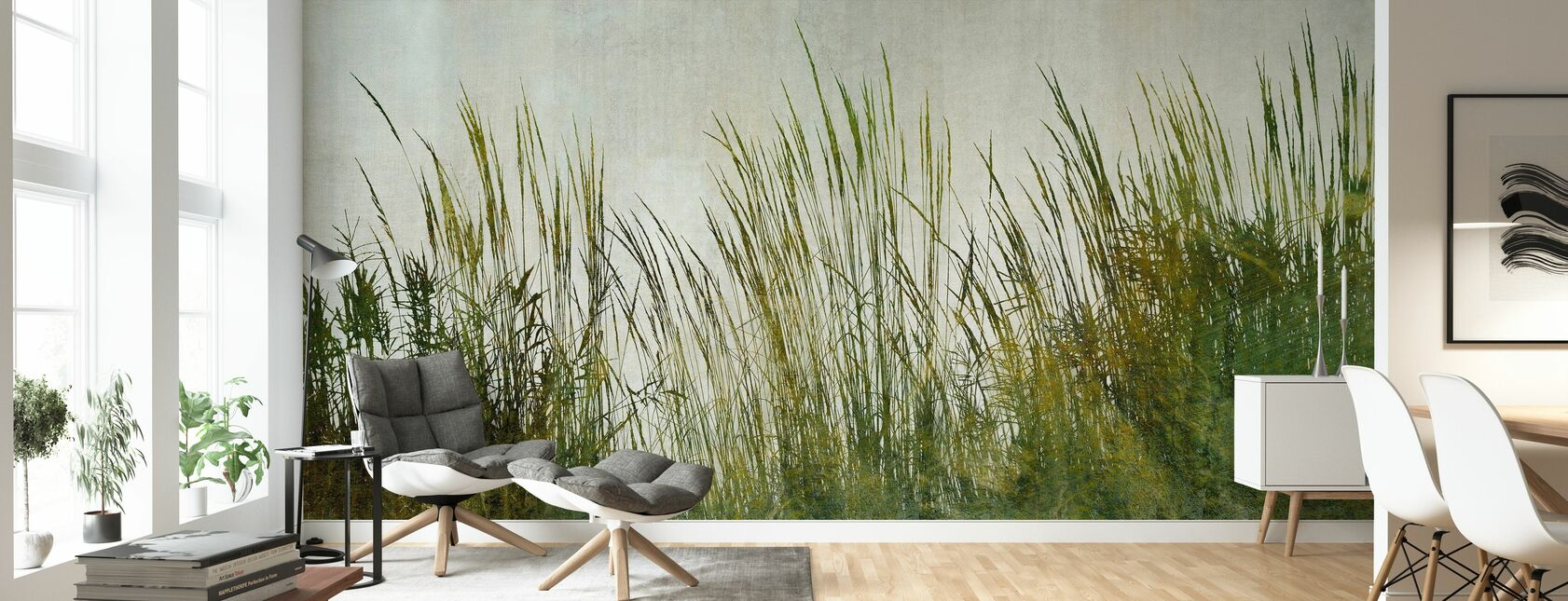 Green Grass Silhouette - Wallpaper - Living Room