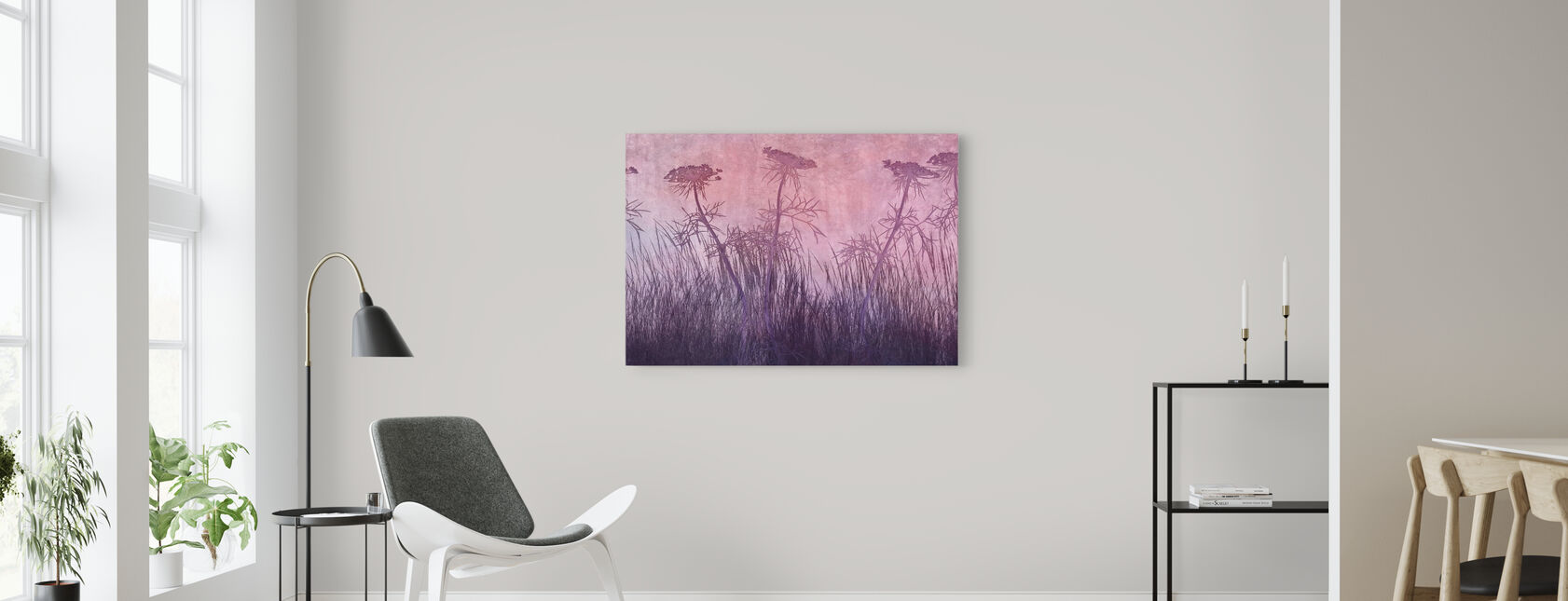 Purple Grass Silhouette - Canvas print - Living Room
