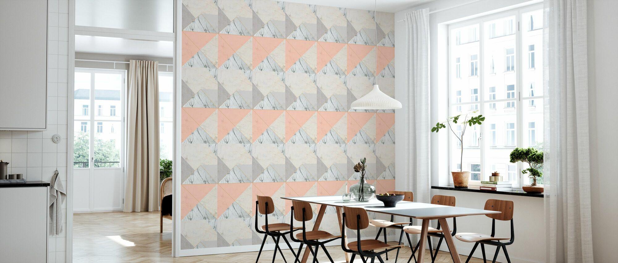 Marble 2.0 Apricot - Wallpaper - Kitchen