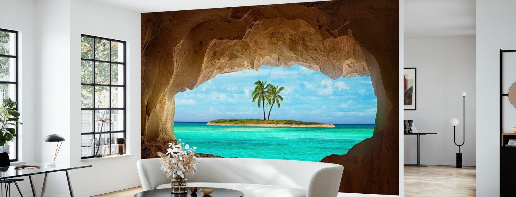 Paradis gjennom vinduet - Tapet - Stue