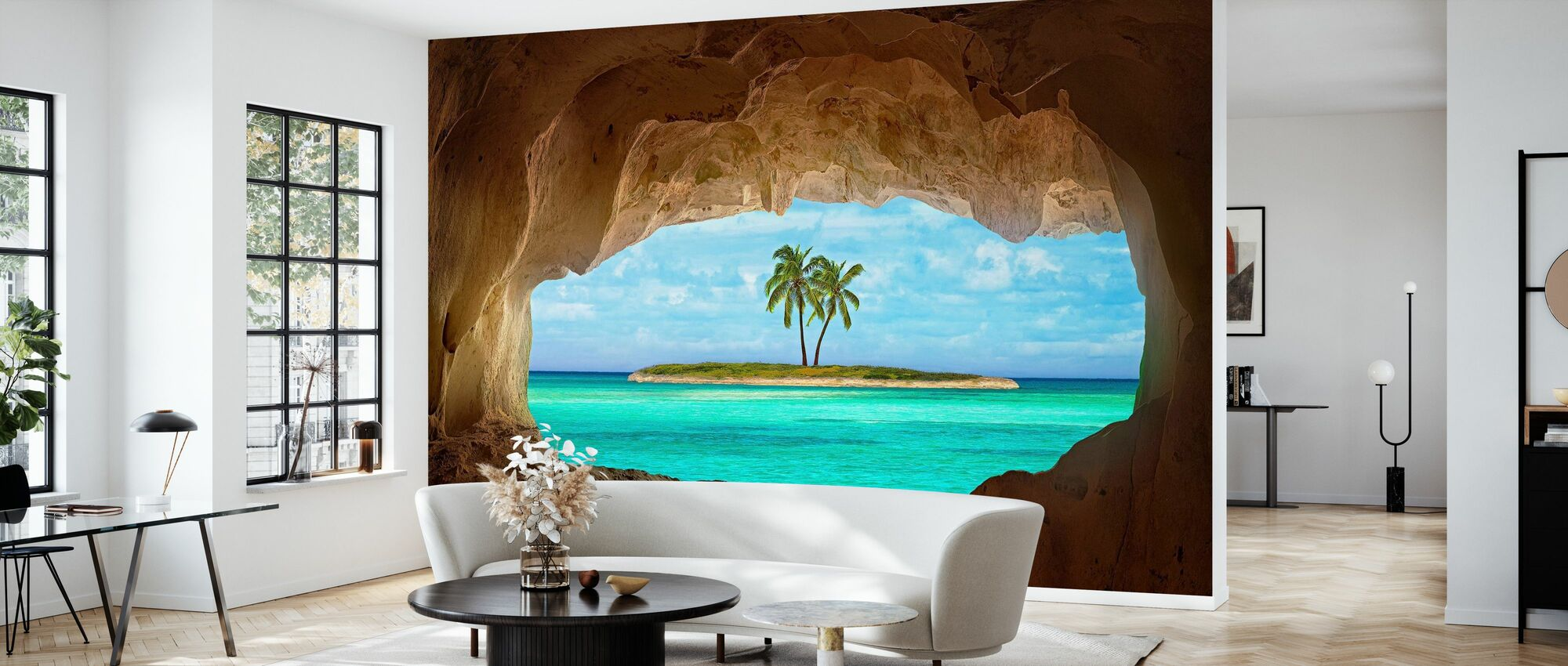 Paradise through Window - Wallpaper - Living Room