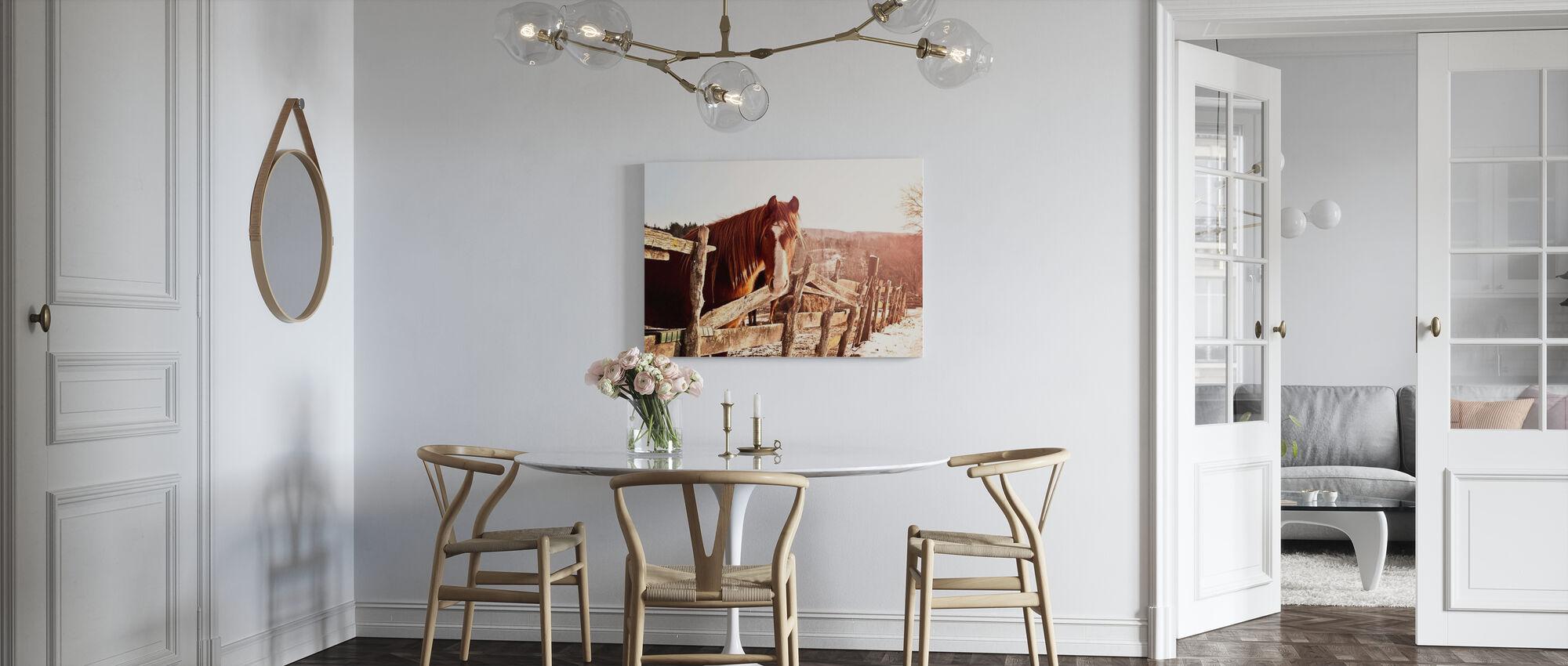 Friendly Chestnut - Canvas print - Kitchen