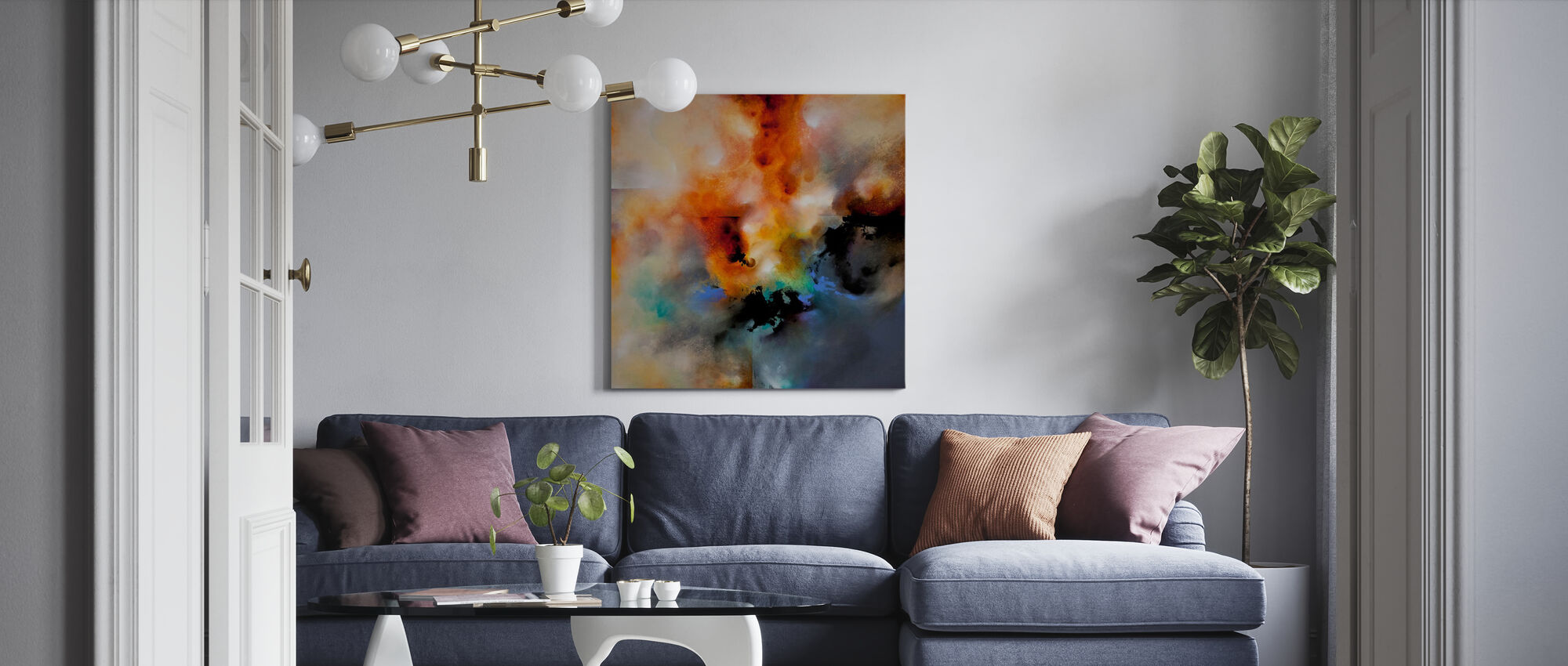 Magiska himmel - Canvastavla - Vardagsrum