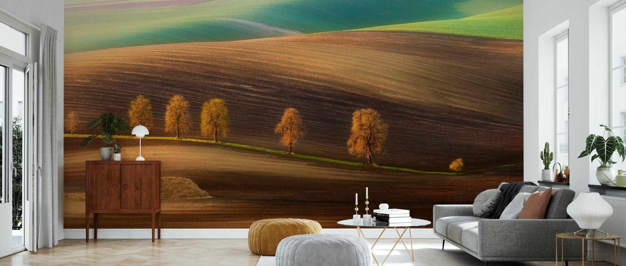 Moravian Trees - Wallpaper - Living Room