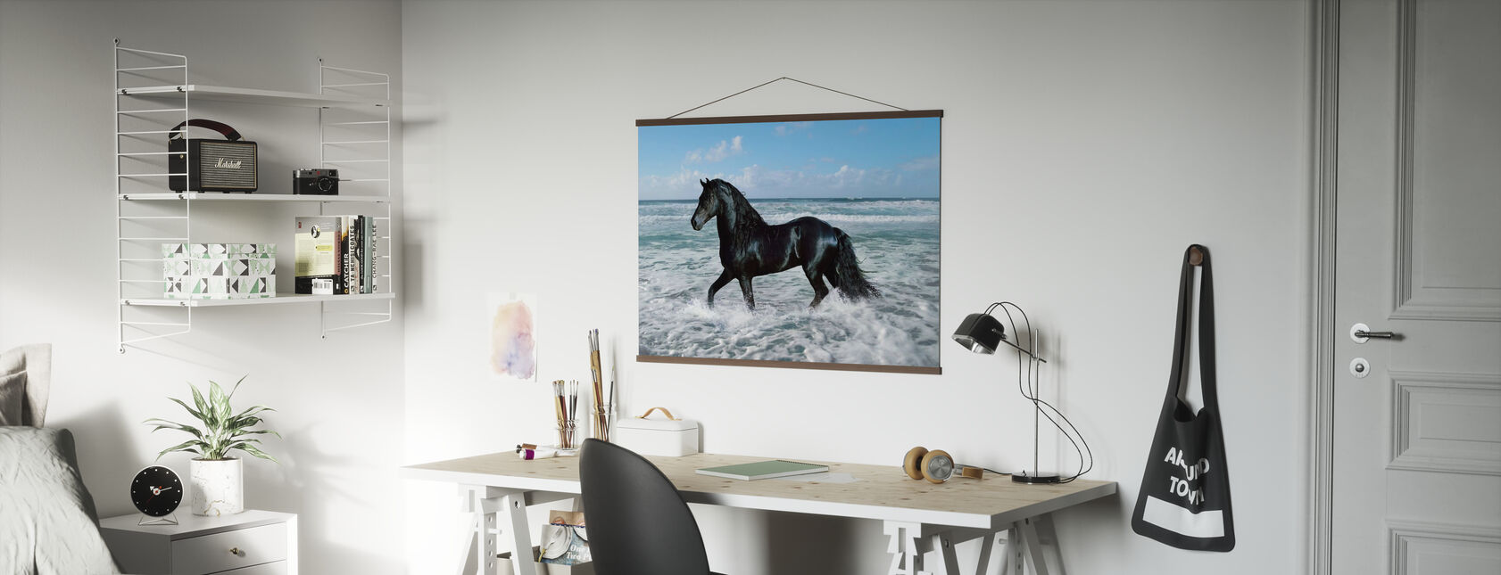 Horse Bathing - Poster - Office