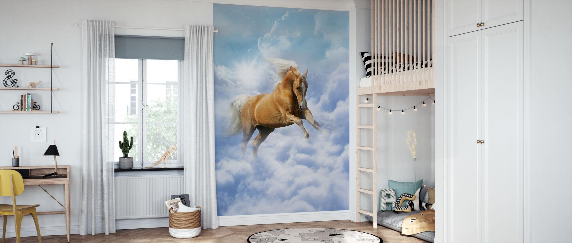 Moln häst - Tapet - Barnrum