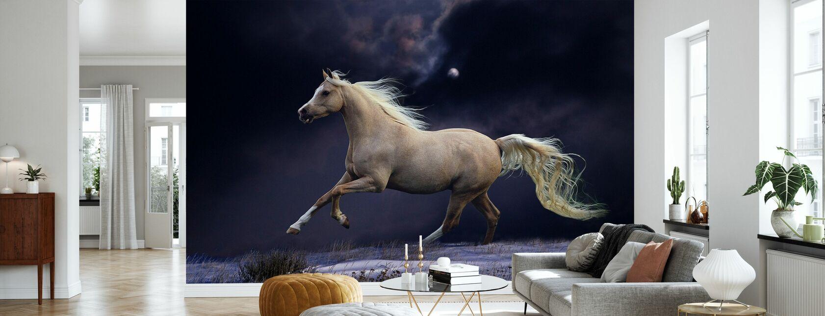 Hest i måneskinn - Tapet - Stue