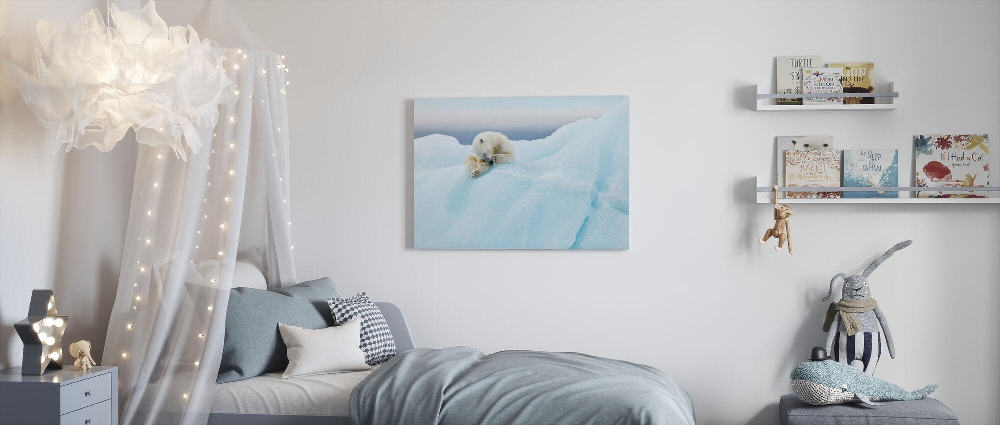 Polar Bear Grooming - Canvas print - Kids Room