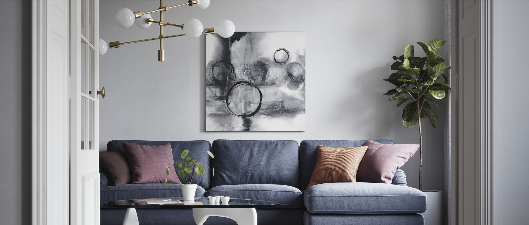 Full Circle I - Canvas print - Living Room