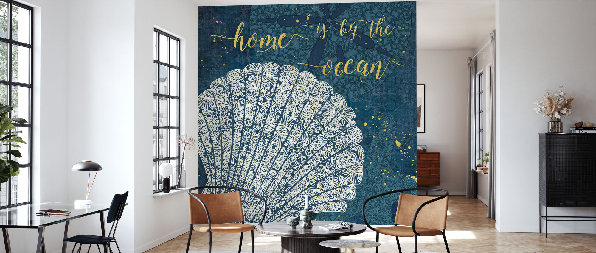 Home is by the Ocean - Wallpaper - Living Room