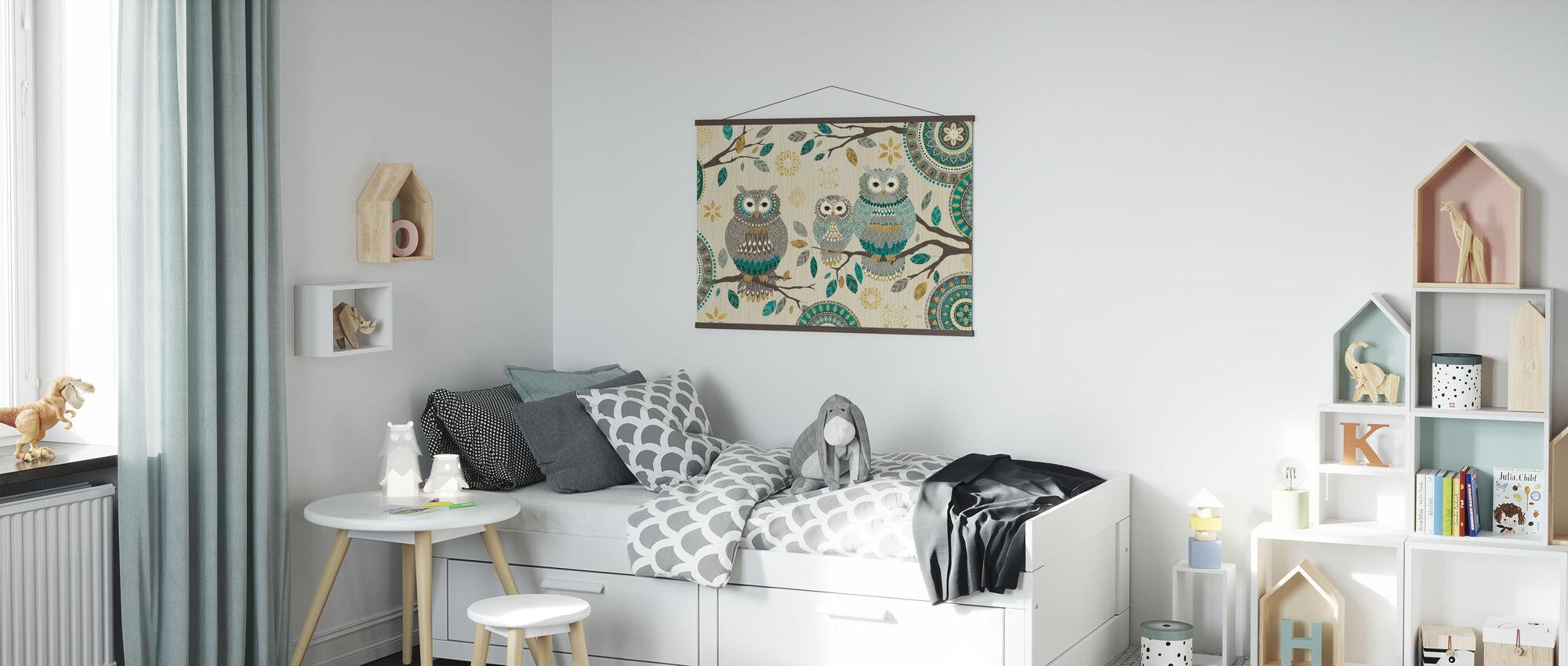 Owl Trio - Poster - Kids Room