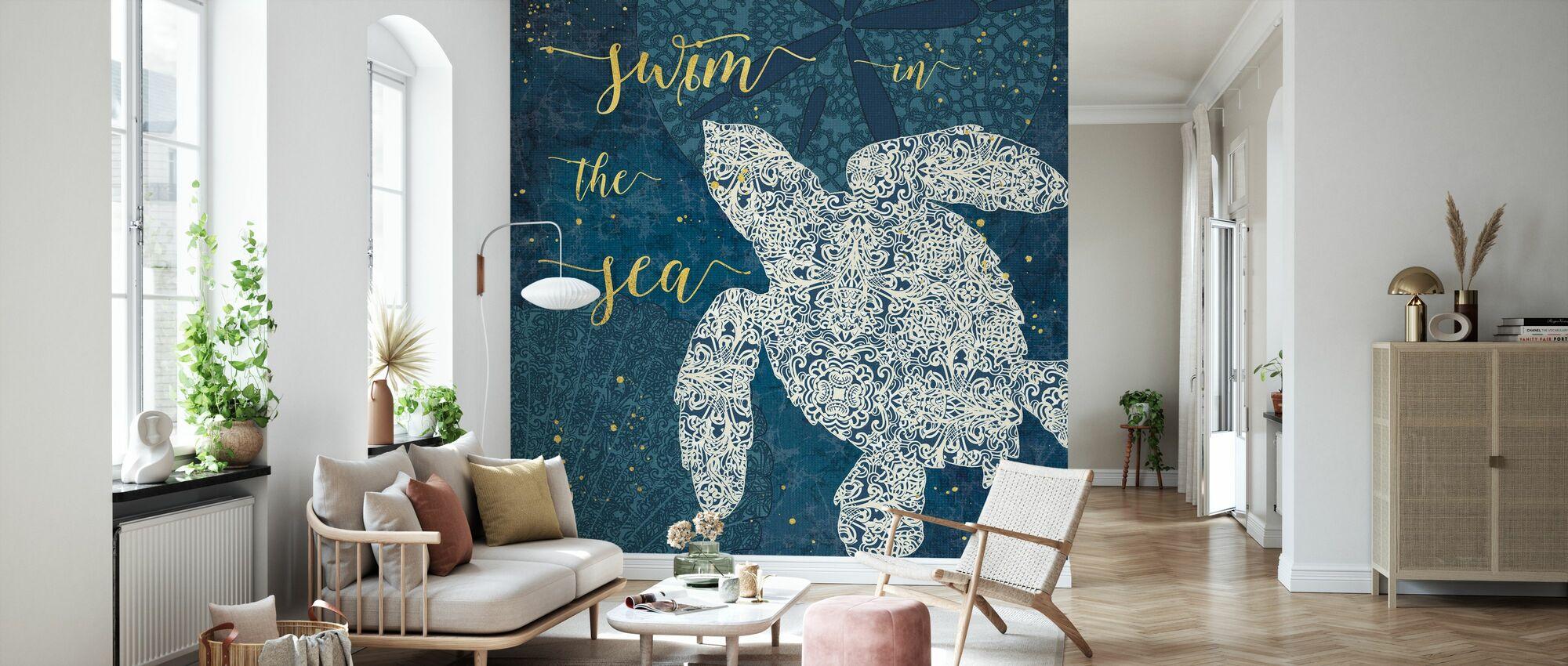 Swim in the Sea - Wallpaper - Living Room