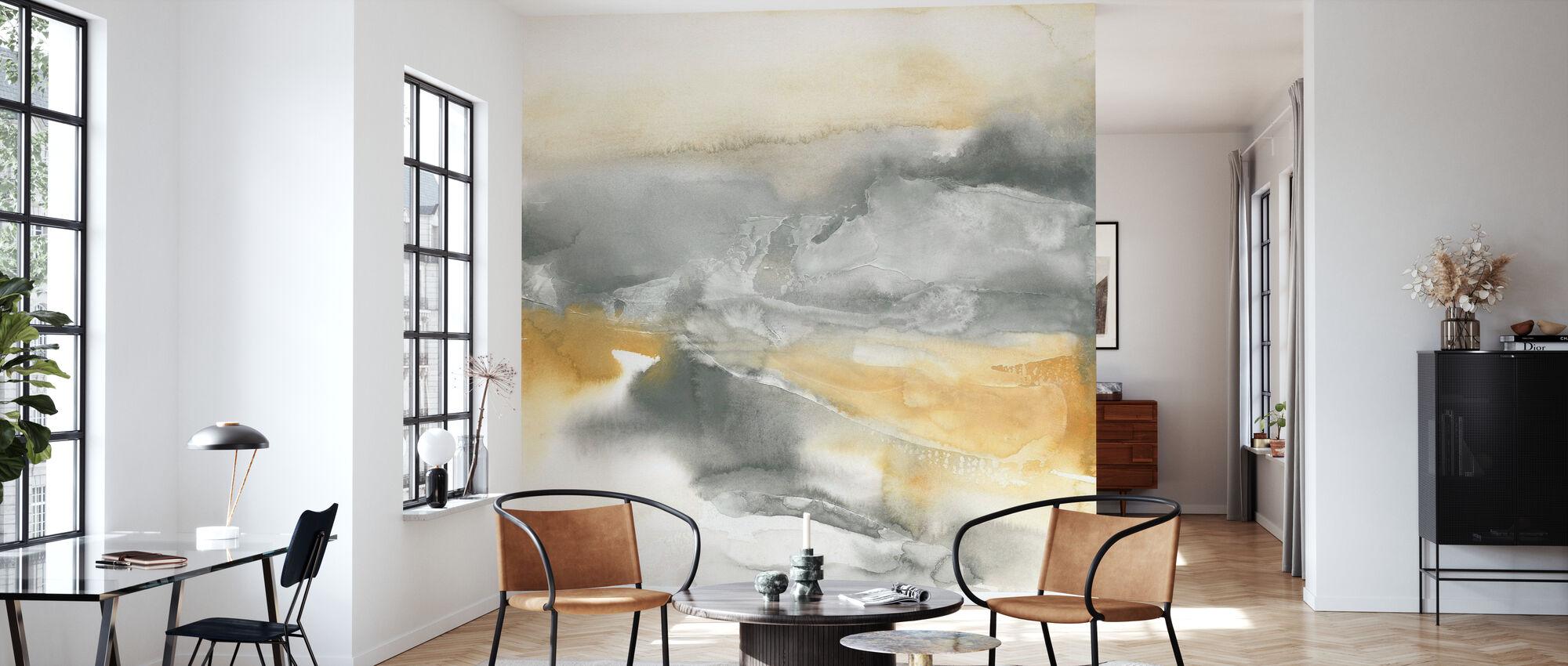 Watercolor Minerals II - Wallpaper - Living Room