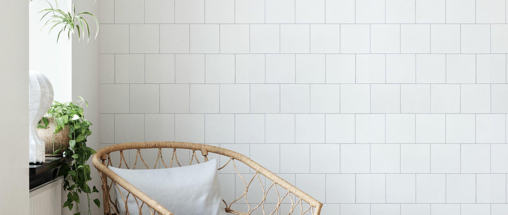 Hvite fliser 15x15 - Tapet - Stue