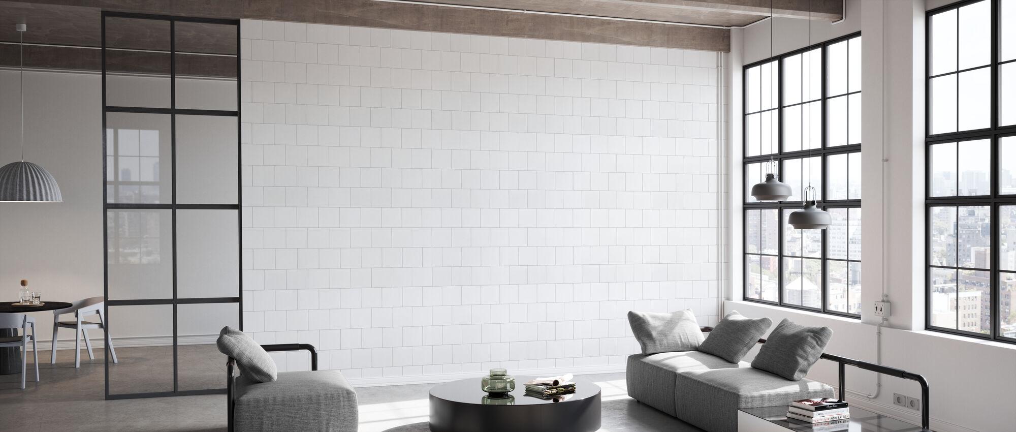 Hvite fliser 20x20 - Tapet - Kontor