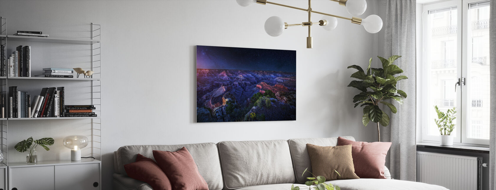 Grand Canyon Night - Canvas print - Living Room