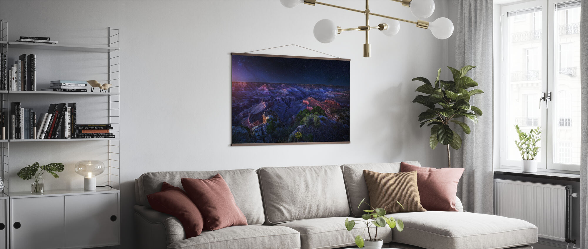 Grand Canyon Night - Poster - Living Room