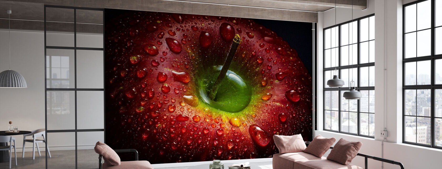 Roter Apfel - Tapete - Büro