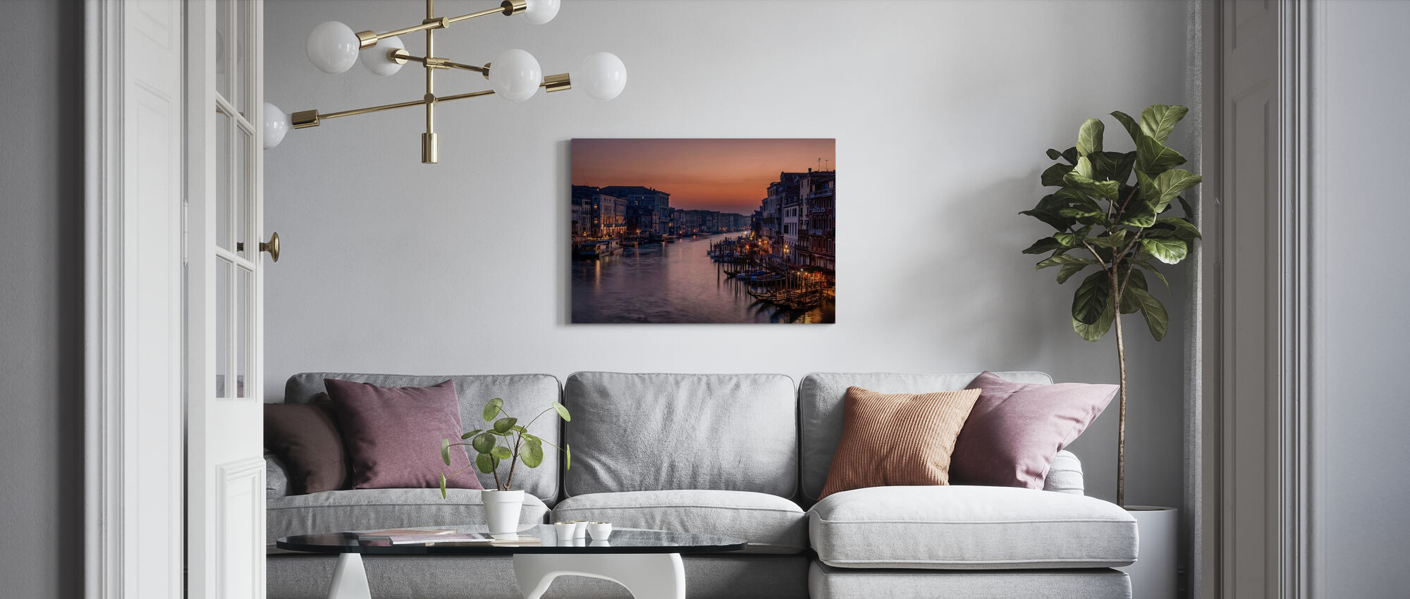 Venice Grand Canal at Sunset - Canvas print - Living Room