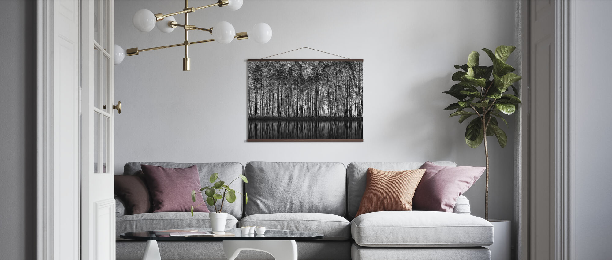 Pointillisme Natur - Plakat - Stue