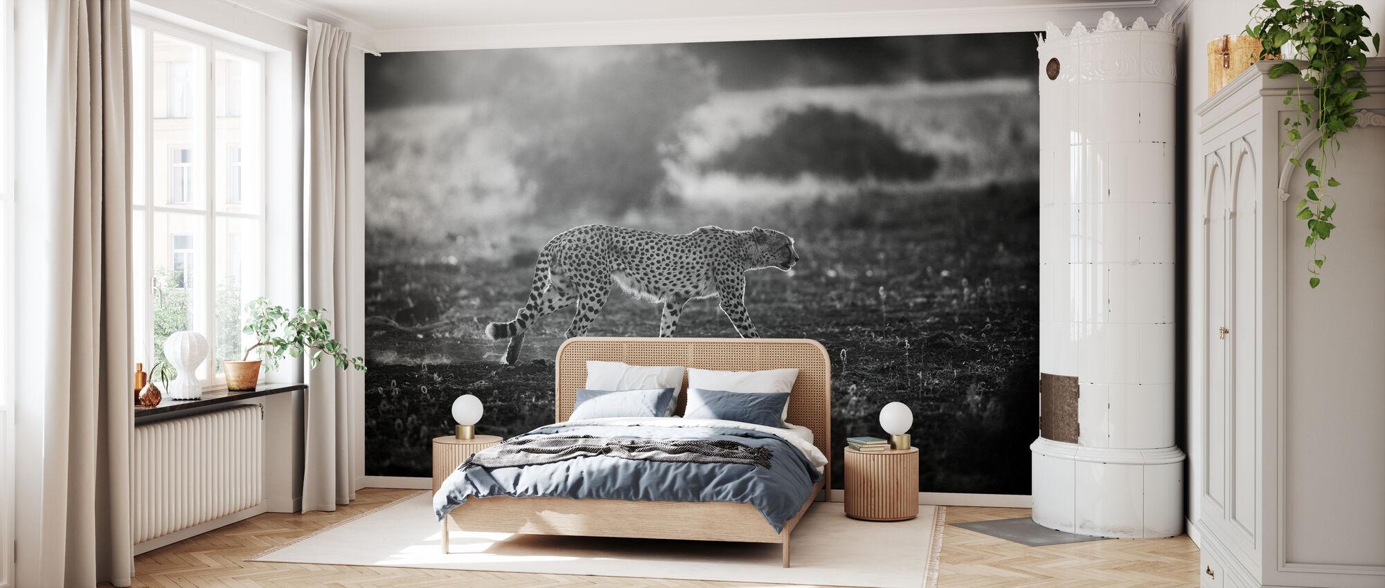 Backlit Cheetah - Wallpaper - Bedroom