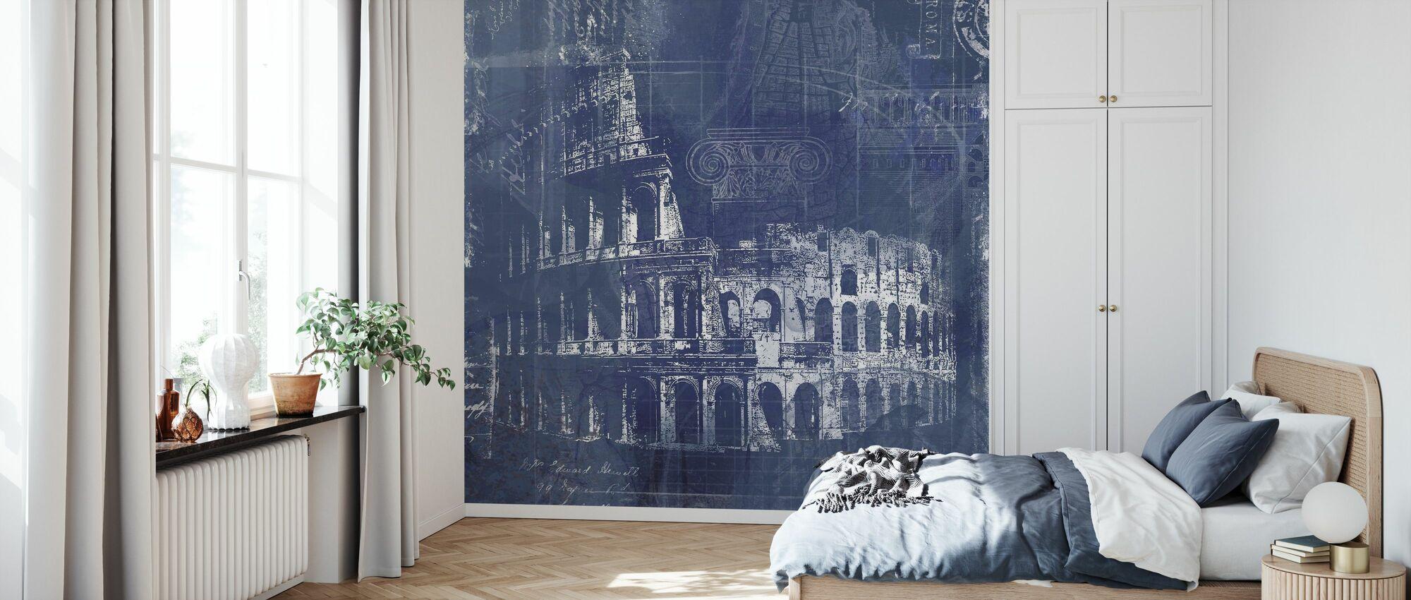 Rome Blueprint - Wallpaper - Bedroom
