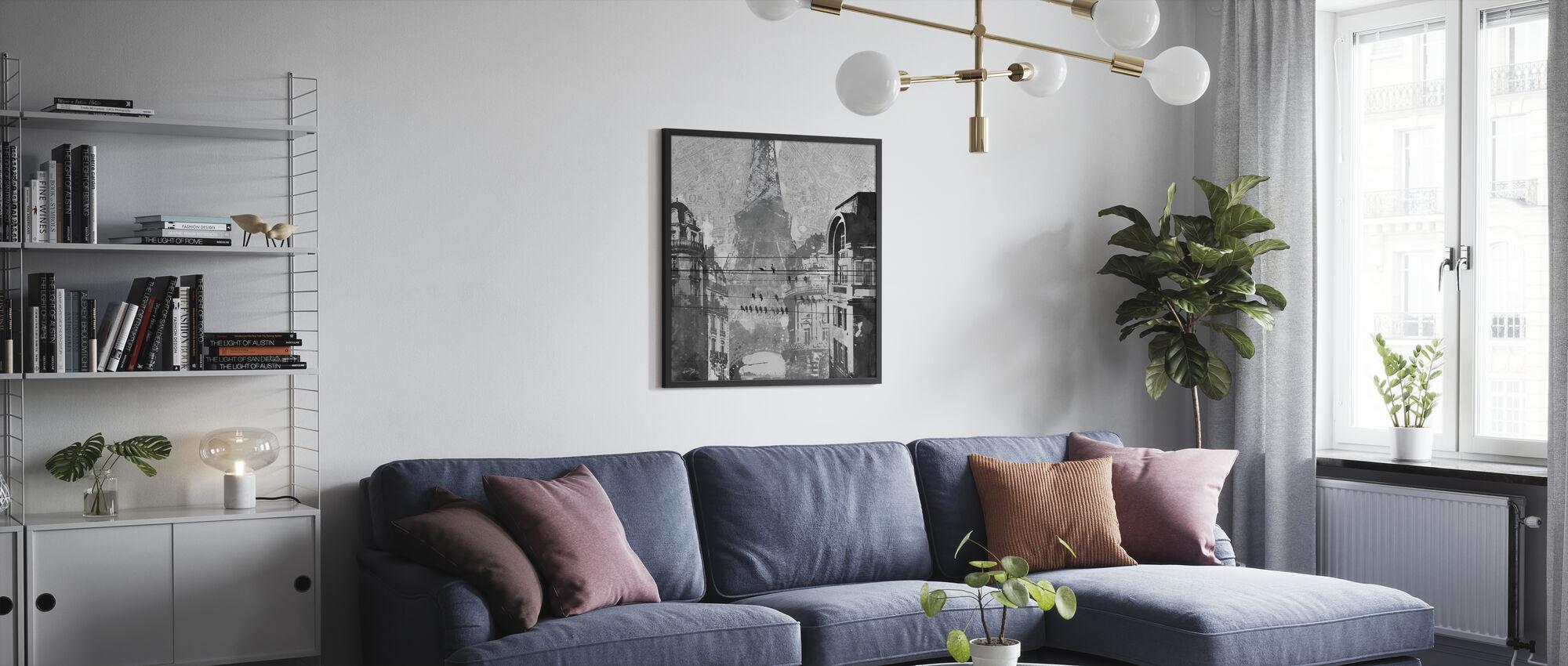 Fåglar av Paris - Inramad tavla - Vardagsrum