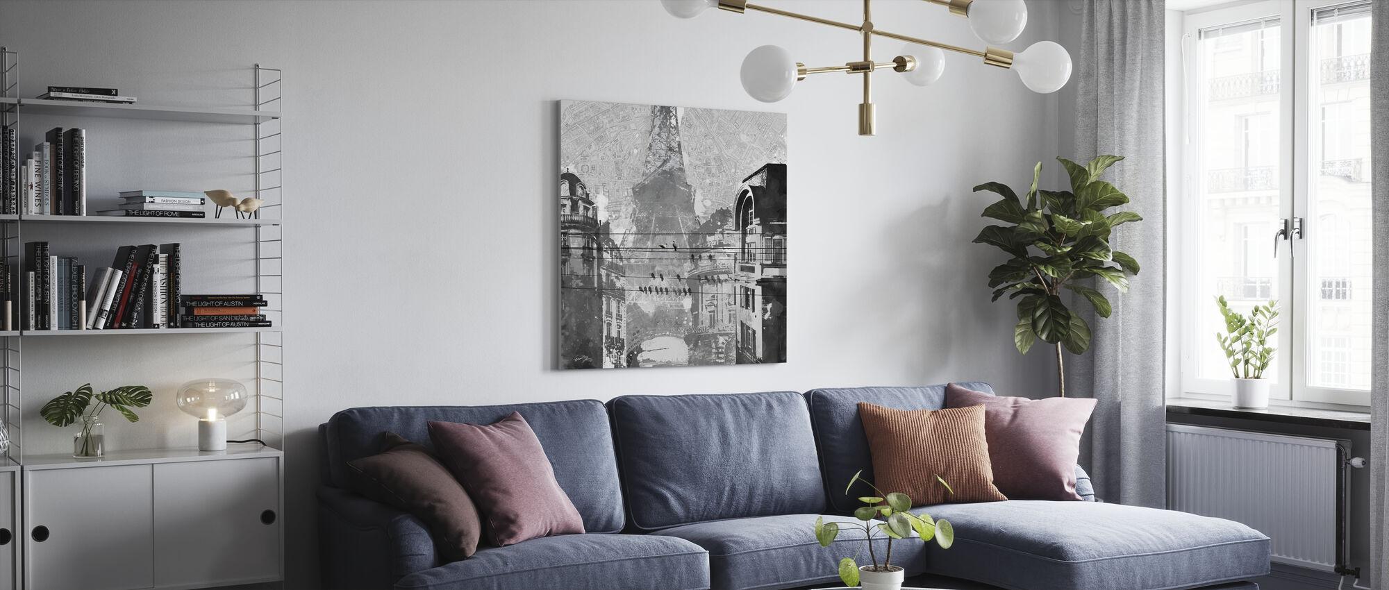 Vogels van Parijs - Canvas print - Woonkamer