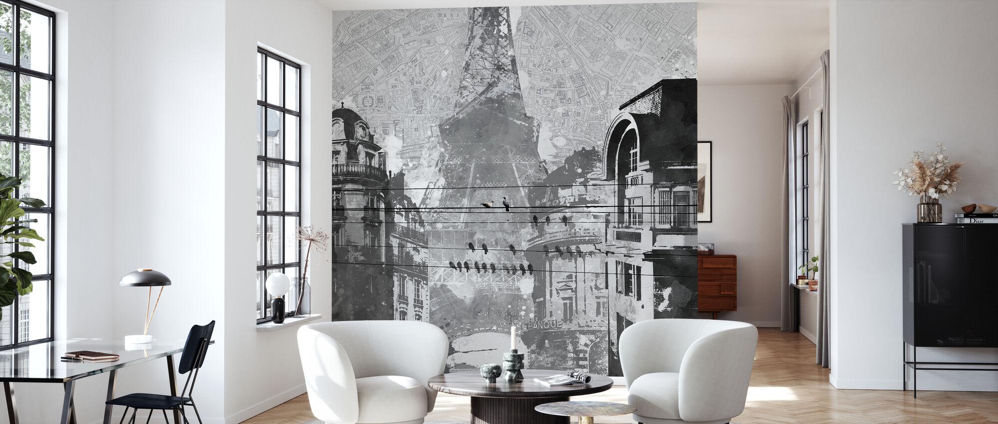 Pariisin linnut - Tapetti - Olohuone
